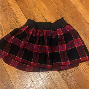 Abercrombie & Fitch Red Plaid Wool Skirt sz xs